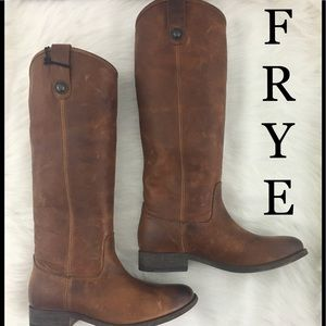 Frye Melissa Button Brown Riding Boots 6